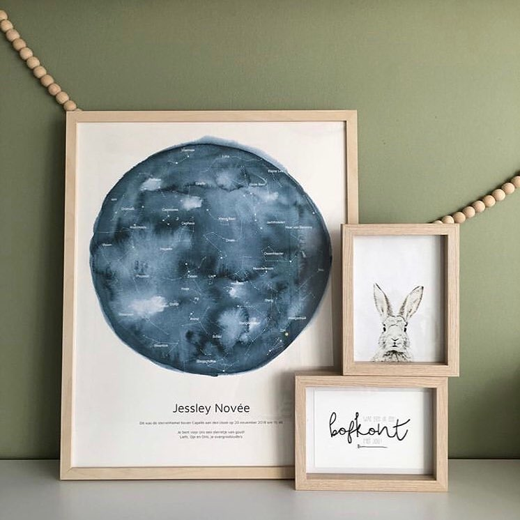 Thank you @evelienspeksnijder for sharing your starry sky at Jessley's birth! We absolutely love your keen eye for composition 😍🌟 Oh, and the colour behind the frames too!🌈 #mrstarskyamsterdam #starrysky #birthposter #stateofthestars⠀ .⠀⠀ .⠀⠀ .⠀⠀ .⠀⠀ .⠀⠀ #sterrenhemel #sternenhimmel #geboorteposter #birthposter #geburtsposter #kraamcadeau #zwanger #schwangershaft #pregnant #havingkids #momlife #lebenmitbaby #babykamerinspiratie #kinderkamerstyling #kidswallart #roominspiration #nursery #babyroom #babyzimmer #personalgift #gepersonaliseerdcadeau #muurposter #walldecor #walldekoration #gallerywall #geburtsgeschenk