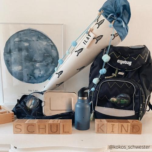 Bild mit Sternnehimmel Poster und Schultüte